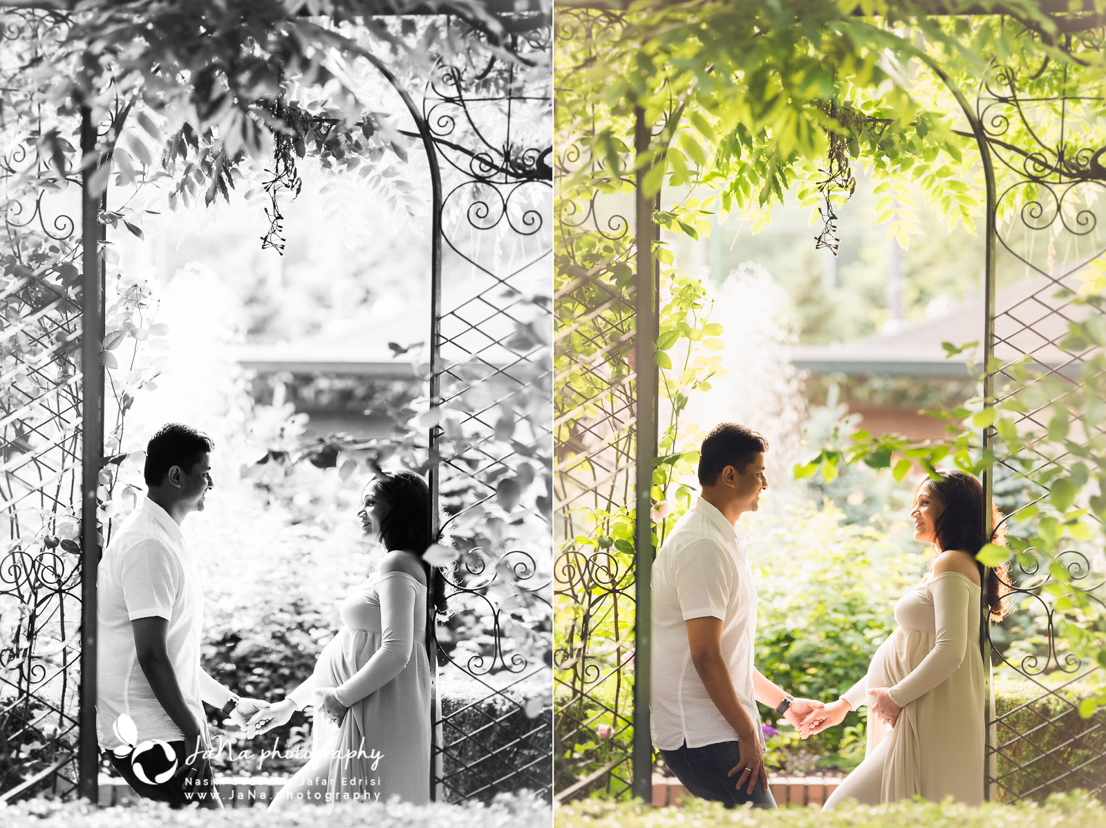 north vancouver maternity photography | Jana Photography in Vancouver had the pleasure of joining these lovely couples for their maternity photo shoot at Park & Tilford Gardens. With breathtaking sceneries in every spot, this location truly is a magical place to capture maternity shots. We have a large selection of gowns in our studio for moms, so they get to choose the ones they like and we also suggest some of them that we think it will look good on them. For these lovely moms to be, we picked out and took a few gowns from our studio and they also brought their own favorite fitted dresses as well. Their selected outfits were an excellent choice for outdoor shots. Vancouver maternity photography.  We got there right on time to catch the sun in the perfect spot for these glorious shots of this lovely mama. Natural light photography is always more attractive because it is more comfortable for moms because they get a chance to be themselves and pose naturally, also they can enjoy the sunshine.  We usually have some favorite spots in Vancouver to shoot out photos, including Deer Lake, Cate's Park, and Park & Tilford; however, since the weather is very nice these days, we have some new locations to visit during our photo shoot. For this lovely couple, we went to Cleveland Dam in North Vancouver, and the photos turned out to be magical. Our models were super photogenic and the view of the Lions mountain in the background added to the beauty of the photos. Cleveland Dam is one of the most beautiful places in North shore, that many people think of it as heaven.  We are grateful that they booked a new born session with us as well, which means we'll be meeting their bundle of joy in Jana Photography studio located in Vancouver very soon.