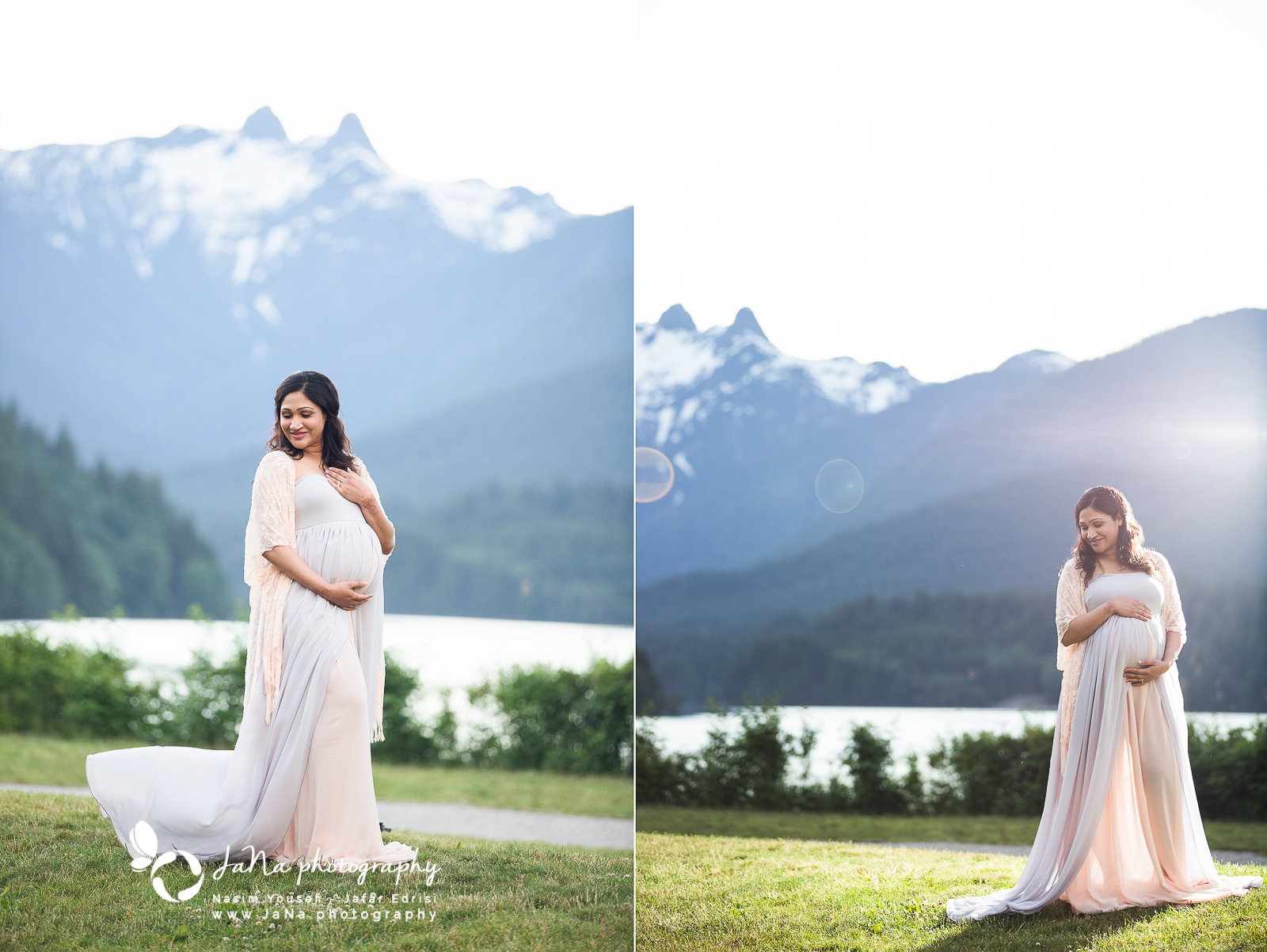 cleveland dam north vancouver \ maternity photography jana | pregnancy picture of a solo mom