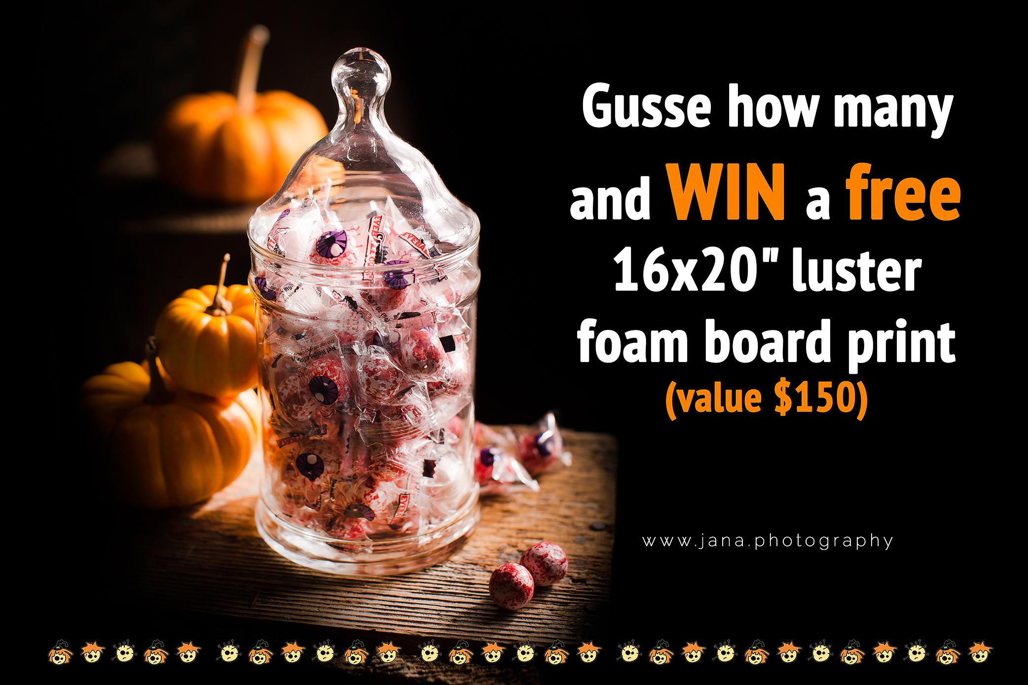 Free 16×20″ luster foam board print!