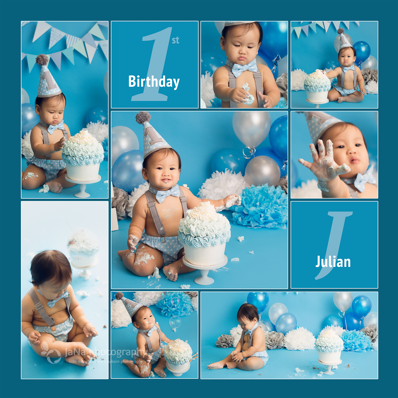 Vancouver cake smash photography - one year old - baby boy