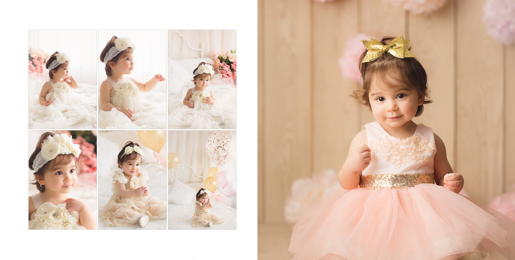 Vancouver & Burnaby baby photography - cake smash - classic portraite