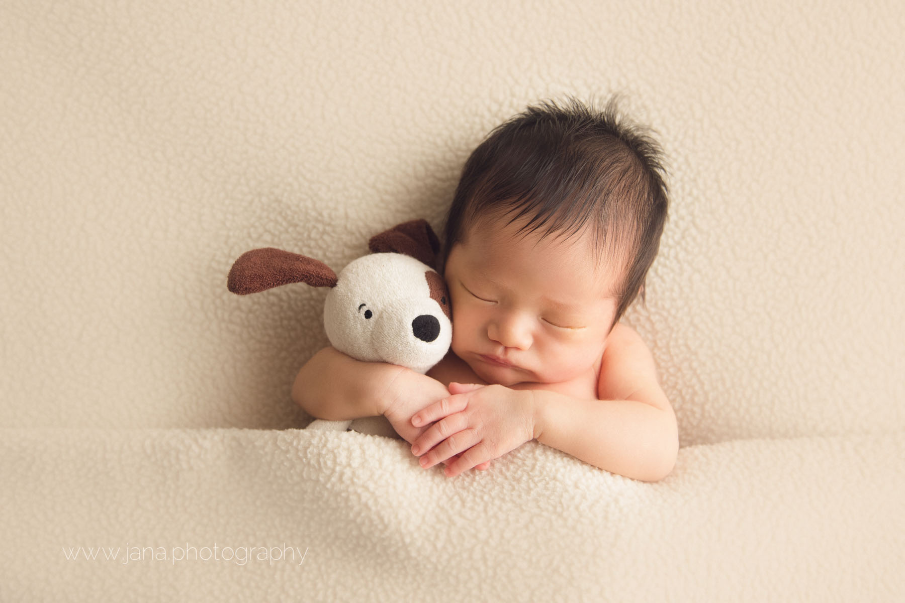 Newborn photography - and dog
