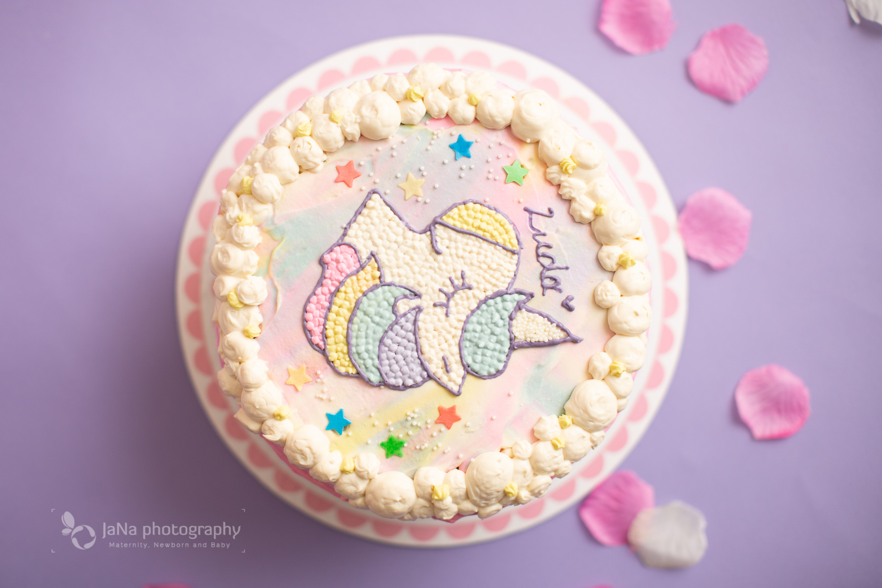 Unicorn theme, Vancouver cake smash photography | Unicorn theme