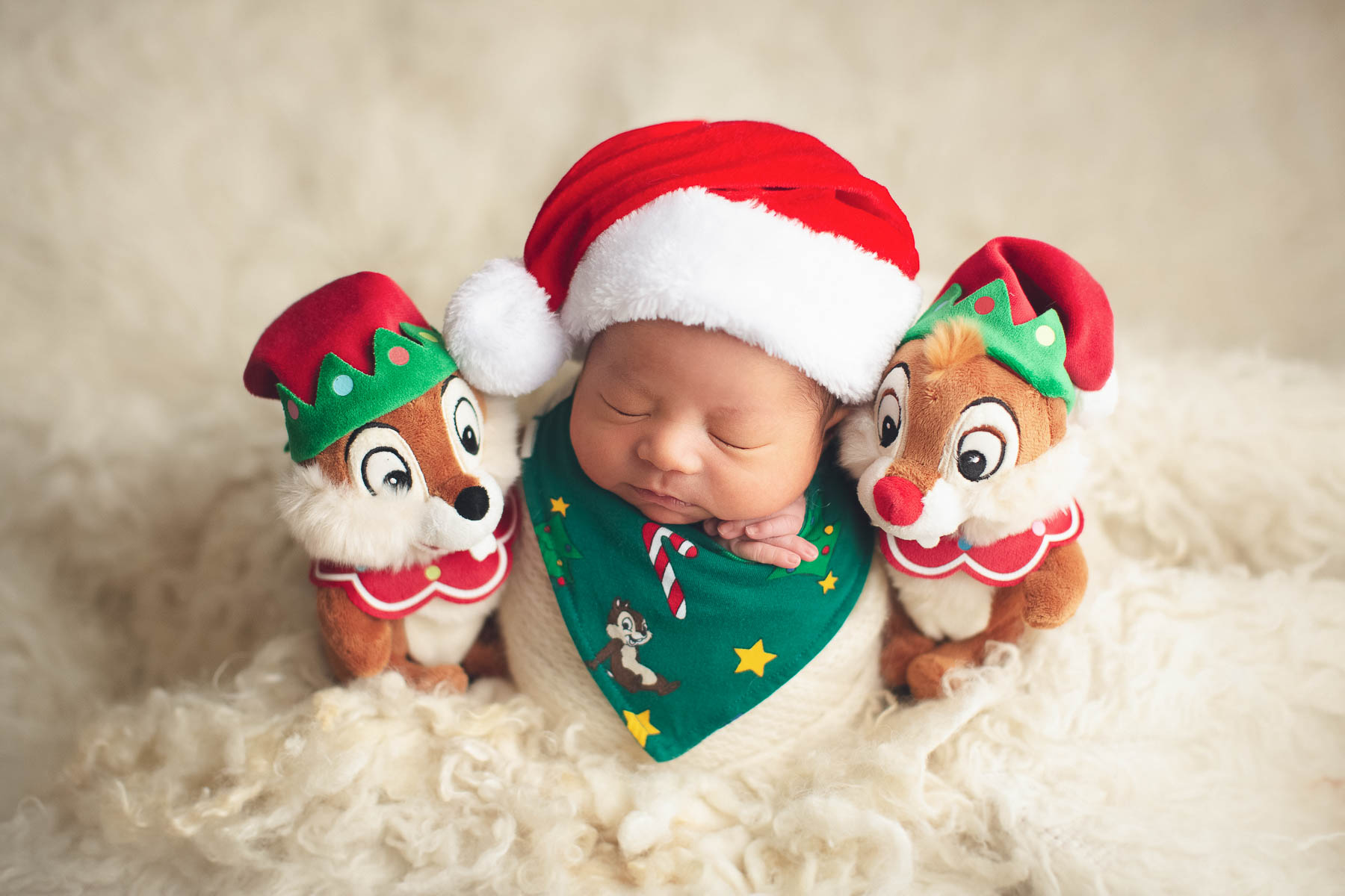 Vancouver newborn photography Disney Chip 'n' Dale.