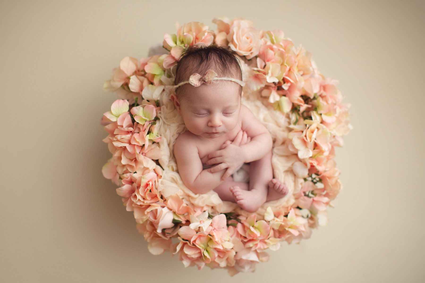 floral nest for a cute baby girl