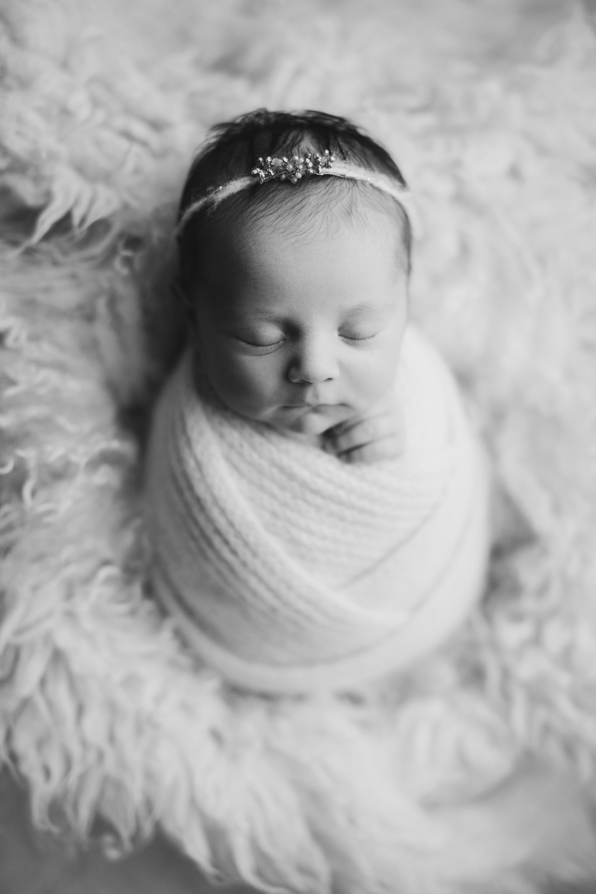black and white baby girl