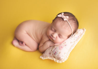 newborn photography Vancouver yellow