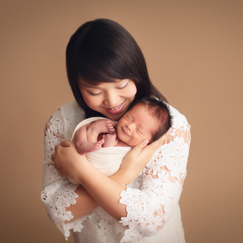 newborn photography Vancouver - mom and baby boy