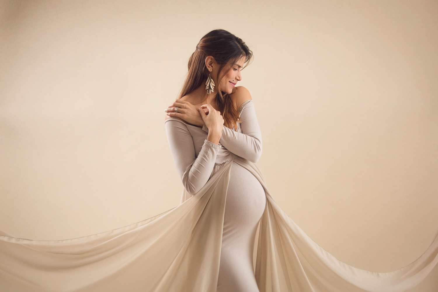 maternity white gown