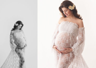 beautiful-white-lace-maternity-gown-with-sleeves