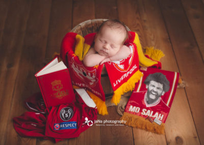 newborn photography with Liverpool fc