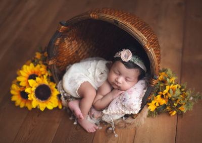 baby girl fall setup | jana newborn photography