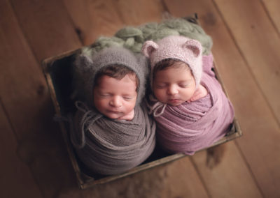 twins newborn siblings boy and girl | Jana photography