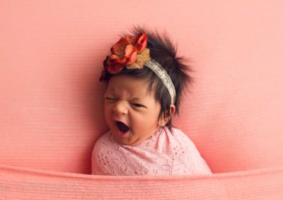 newborn baby girl - cutest - open eye - hair - 3