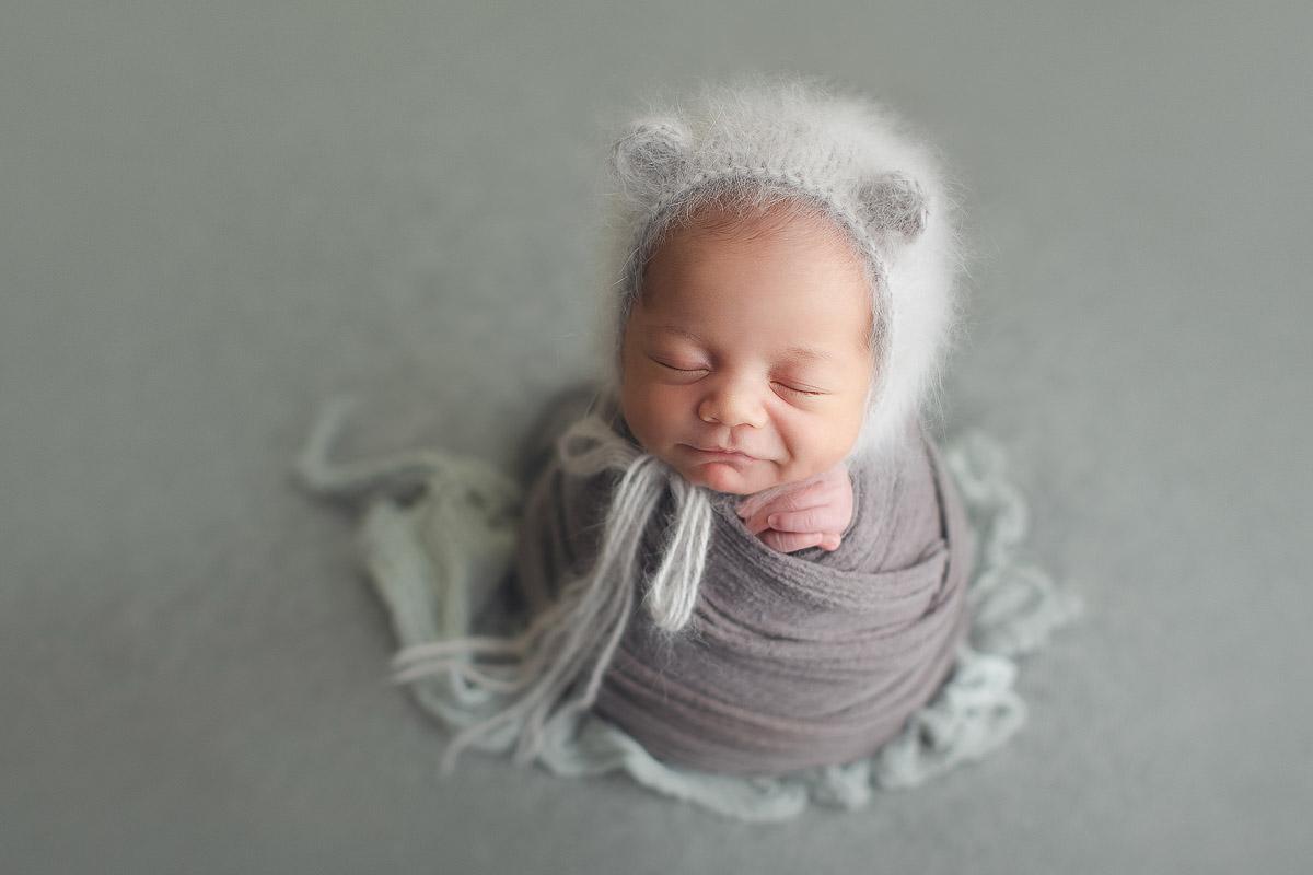 newborn baby boy with cute hat -