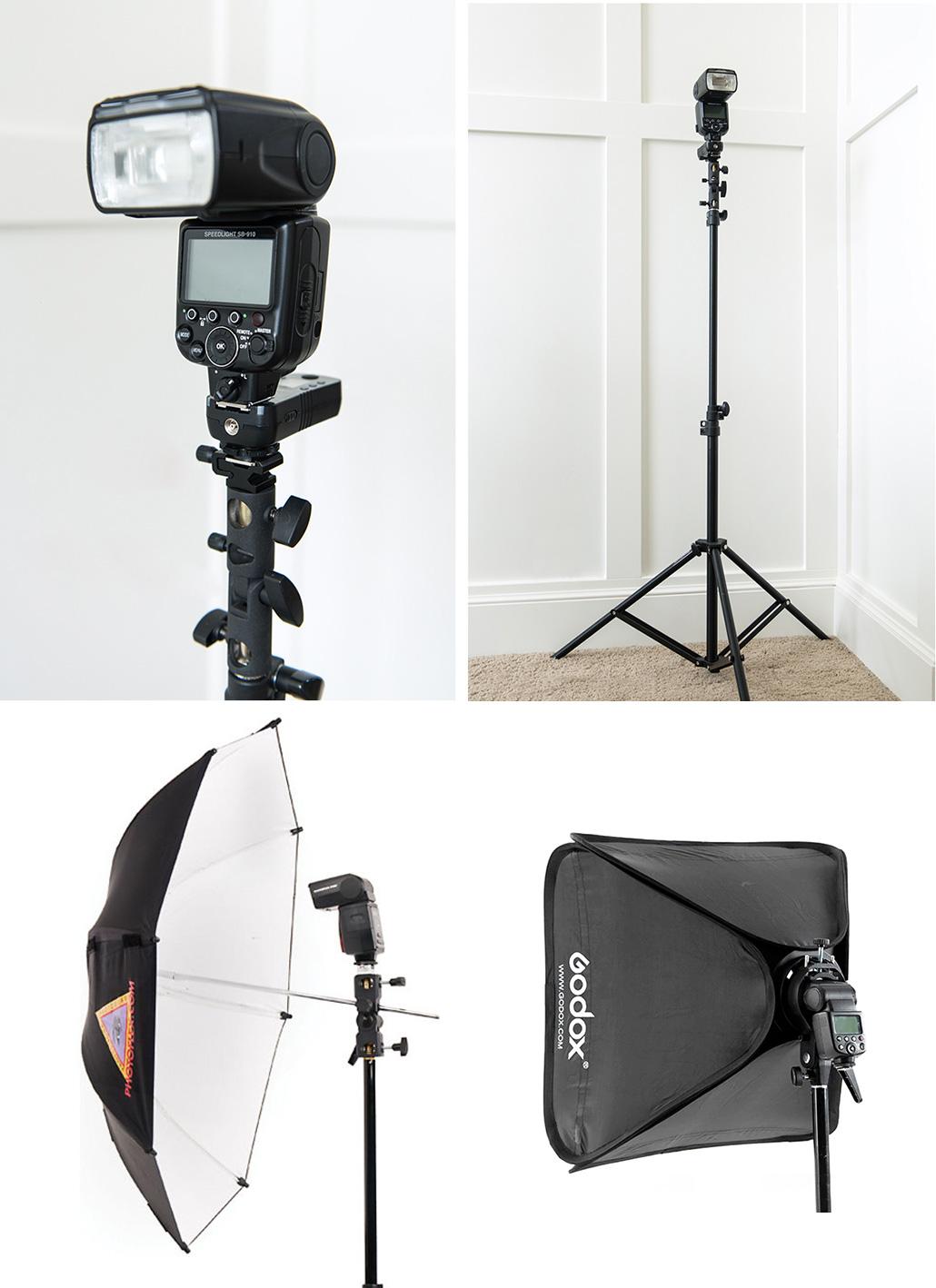 speedlight flash or off camera setup for newborn photography