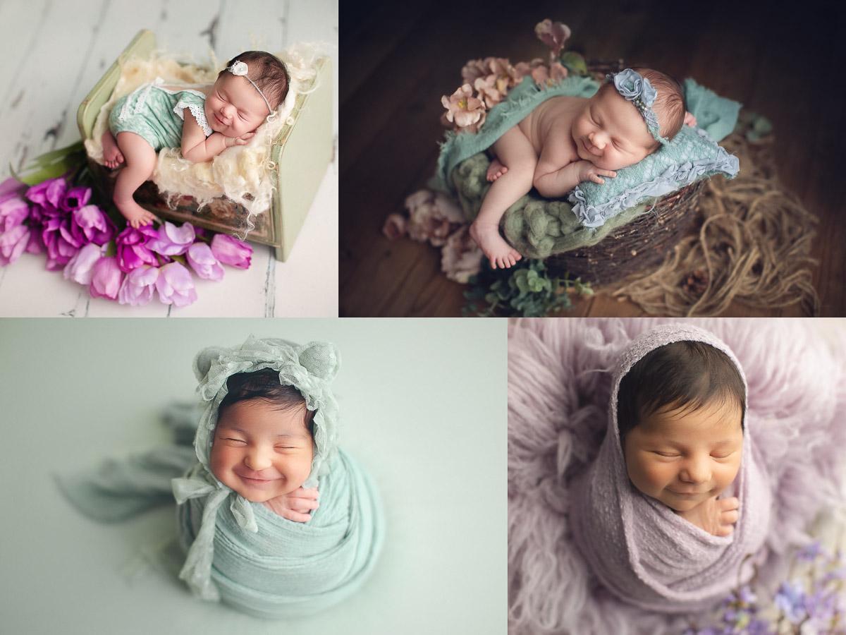 how make newborn baby smile - vancouver newborn photography
