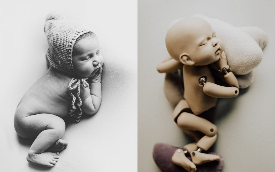 How to pose a newborn on bean bag | Tutorial